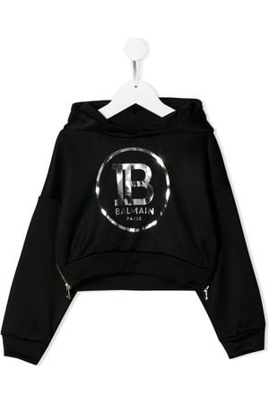 Balmain Printed logo hoodie