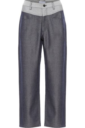 Colovos Mid-rise straight wool-blend pants