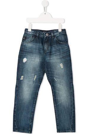 Emporio Armani Niño Jeans - Skinny jeans con efecto envejecido
