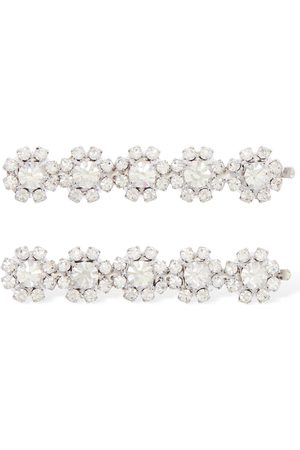 Alessandra Rich Set Of 2 Crystal Hair Clips