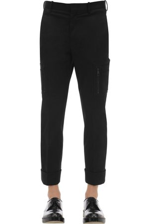 Neil Barrett Pantalones De Gabardina De Algodón Con Bolsillos