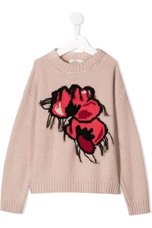 Le pandorine Suéter tejido con motivo floral