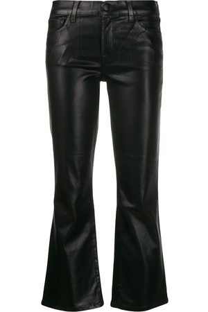 J Brand Mujer Slim y skinny - Metallic bell-bottom trousers