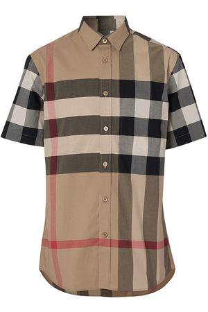 Burberry Camisa de manga corta con motivo de cuadros