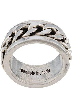 EMANUELE BICOCCHI Anillo con logo grabado
