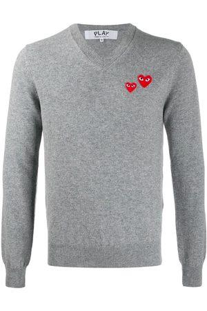 Comme des Garçons Hombre Suéteres - Jersey con detalle de corazones