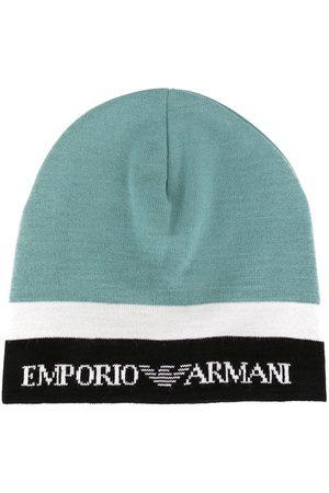 Emporio Armani Gorros - Gorro tejido en colour block