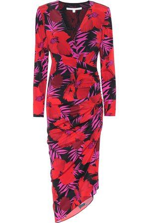 VERONICA BEARD Alvaro floral stretch-silk dress