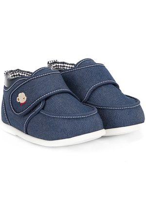 Familiar Zapatos primeros pasos de mezclilla