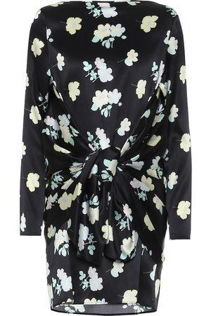 Bernadette Judy floral stretch-silk minidress