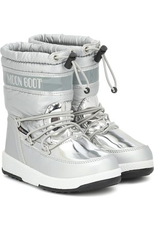 Moon Boot Metallic nylon snow boots