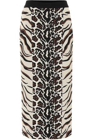 Stella McCartney Exclusive to Mytheresa – Animal-jacquard midi skirt