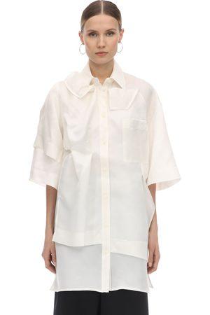 Nina Ricci Layered Asymmetric Silk Shirt