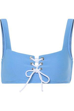 Heidi Klein Cairns lace-up bikini top
