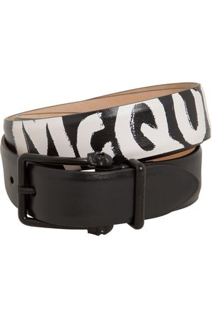 Alexander McQueen Cinturón De Piel Reversible Con Logo 4cm