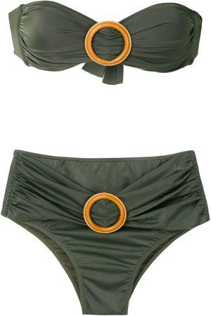 Brigitte Mujer Bikinis - Bikini bandeau con detalle de hebilla