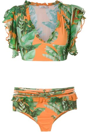 AMIR SLAMA Mujer Bikinis - Top de bikini estampado corto