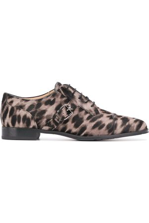 Tod's Zapatos oxford con estampado de leopardo