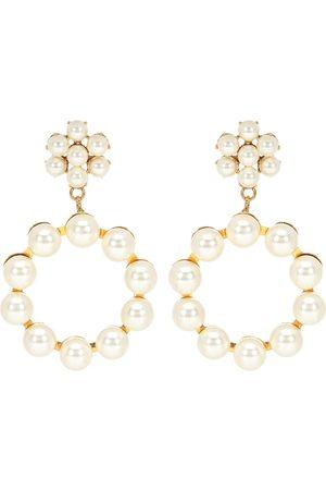 Jennifer Behr Leilani peal-encrusted earrings