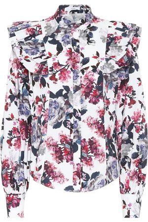 Erdem Caternia floral cotton top