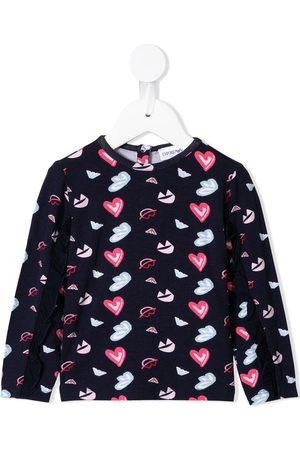 Emporio Armani Suéteres - Suéter con estampado de corazones