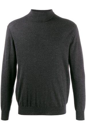 N.PEAL 007 Fine Gauge Mock Turtle Neck Sweater