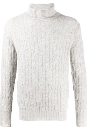 N.PEAL 007 Cable Roll Neck Sweater