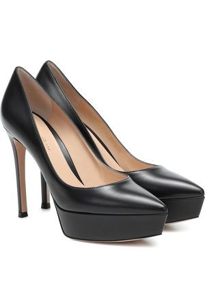 Gianvito Rossi Mujer Pumps - Dasha leather plateau pumps