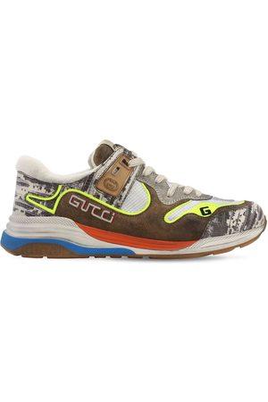 """Gucci Sneakers """"ultrapace"""" De Malla Y Piel"""
