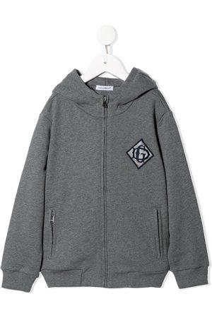 Dolce & Gabbana DG detail zip hoodie