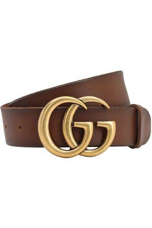Gucci Mujer Cinturones - Cinturón De Piel Con Hebilla Gg 40mm