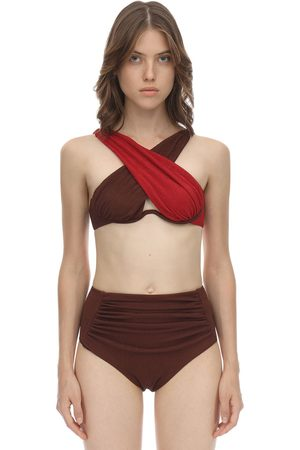Self-Portrait Mujer Bikinis - Top De Bikini De Seersucker Cruzado