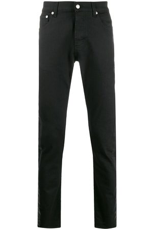 Alexander McQueen Hombre Rectos - Side tape straight jeans