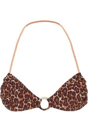 Tropic of C Mujer Bikinis - Lira leopard-print bikini top