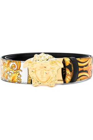 VERSACE Cinturón con estampado Barocco Femme y aplique de Medusa