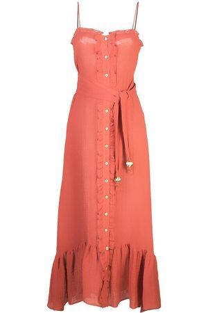 Lisa Marie Fernandez Vestido largo con botones