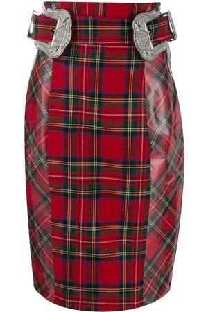 Philipp Plein Mujer Estampadas - Falda tubo a cuadros