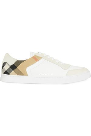 Burberry Leather, Suede and House Check Sneakers