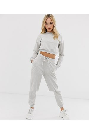 ASOS Tracksuit cropped sweat / slim jogger with tie