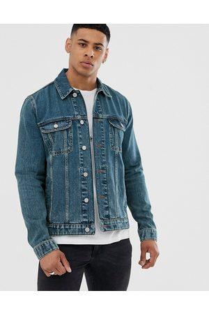 ASOS Regular denim jacket in mid wash