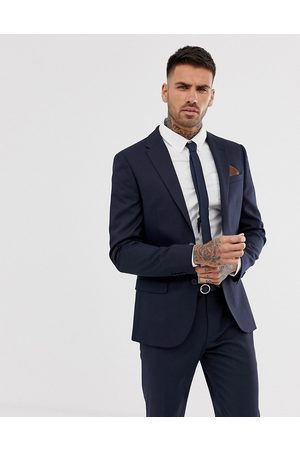 River Island Skinny suit jacket in navy