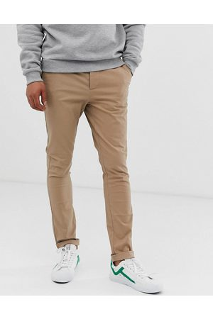 ASOS Hombre Chinos - Super skinny chinos in stone