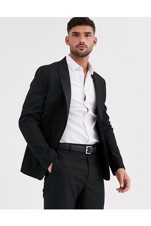 ASOS Skinny tuxedo suit jacket in black