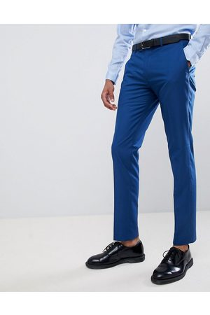 Farah Farah skinny wedding suit trousers in blue