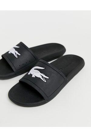 Lacoste Hombre Sandalias - Croco sliders in black