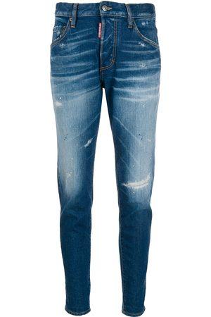Dsquared2 Jeans con efecto envejecido de tiro alto