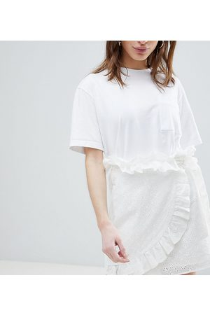 Lost Ink Mini Wrap Skirt In Broderie Anglaise