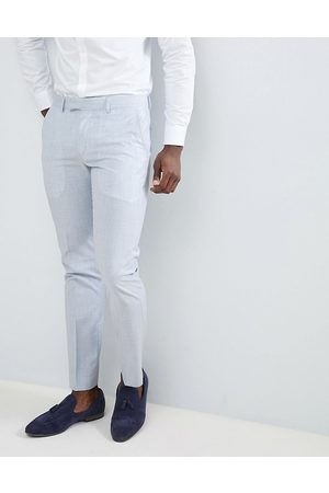 Farah Farah Skinny Wedding Suit Trousers In Cross Hatch