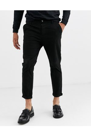 ASOS Skinny cropped chinos in black