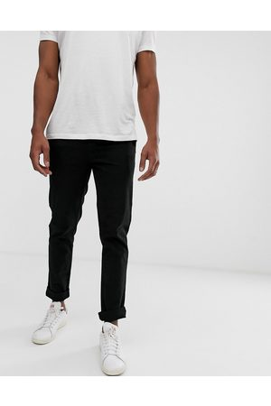 ASOS Slim chinos in black